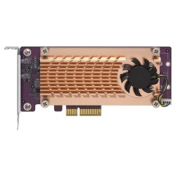 Dual M.2 22110 2280 PCIe SSD expansion card