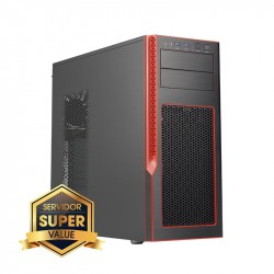 Server Mid-Tower Chassis (Red . Trim).